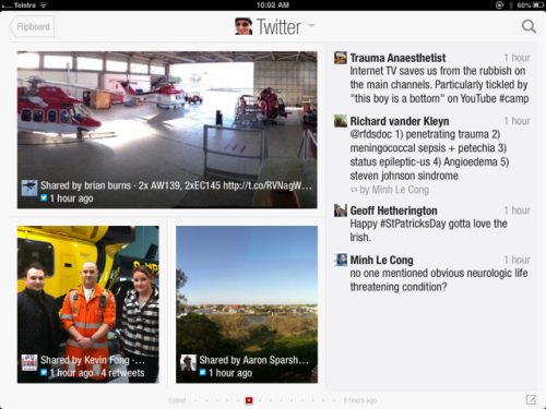 FlipBoard acts like online newspaper - of all YOUR preferred content